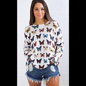 Mumu Bonfire Sweater-Butterflies in my Eyes Knit.